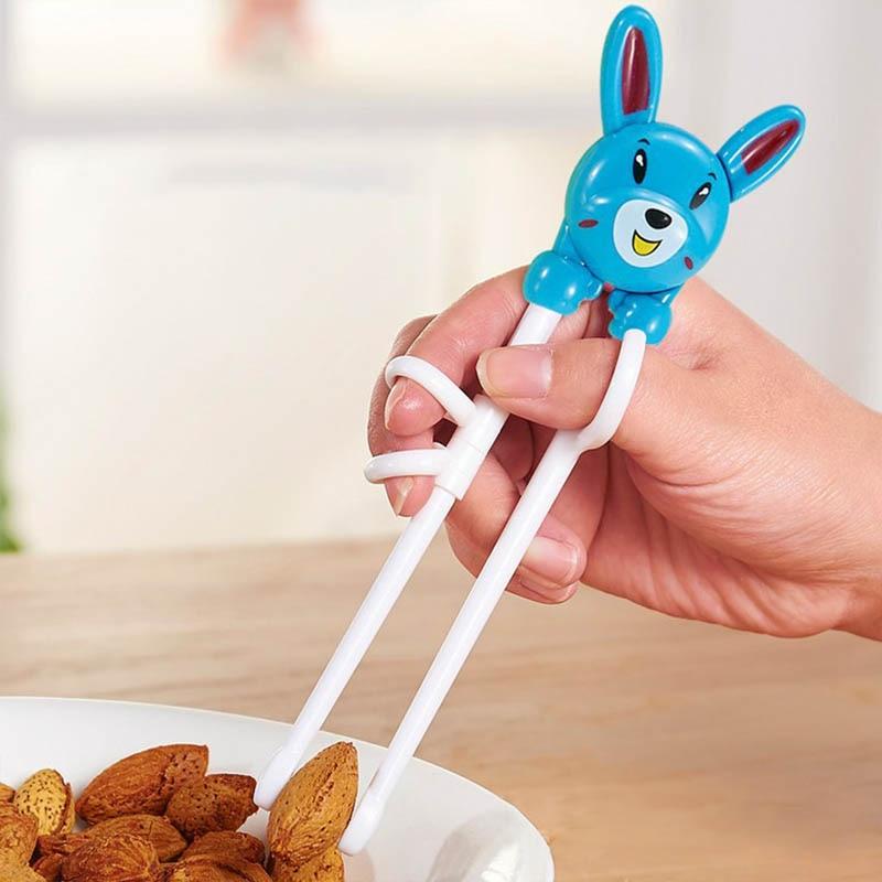 Portable Baby Enlightenment Chopsticks Cartoon Plastic Beginner Chopsticks 1 Pair Learning Training Chopsticks