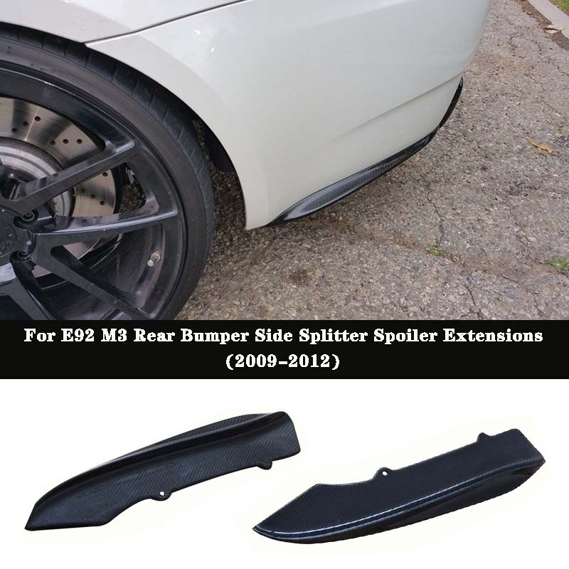 K Style Carbon fiber Rear Bumper Side Splitter Spoiler Extensions For BMW E92 E93 2Door M3 image