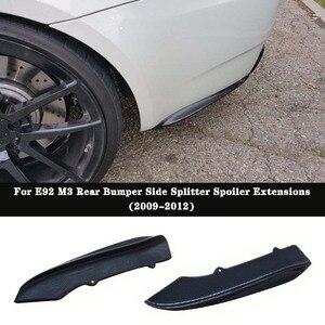 K extensão de spoiler traseiro fibra de carbono, estilo k, divisor lateral, para bmw e92 e93 2 portas m3