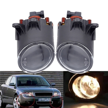 цена на 1 Pair Car Halogen Front Fog Light Fog Lamp With Bulbs Car-Styling Car Fog Light For Audi A4 B6 2001 2002 2003 2004 2005