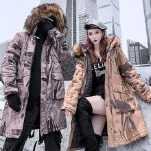 Fashion wild couple cotton coat trend hooded mens jacket casual loose clothing men and women winter new warm clothes