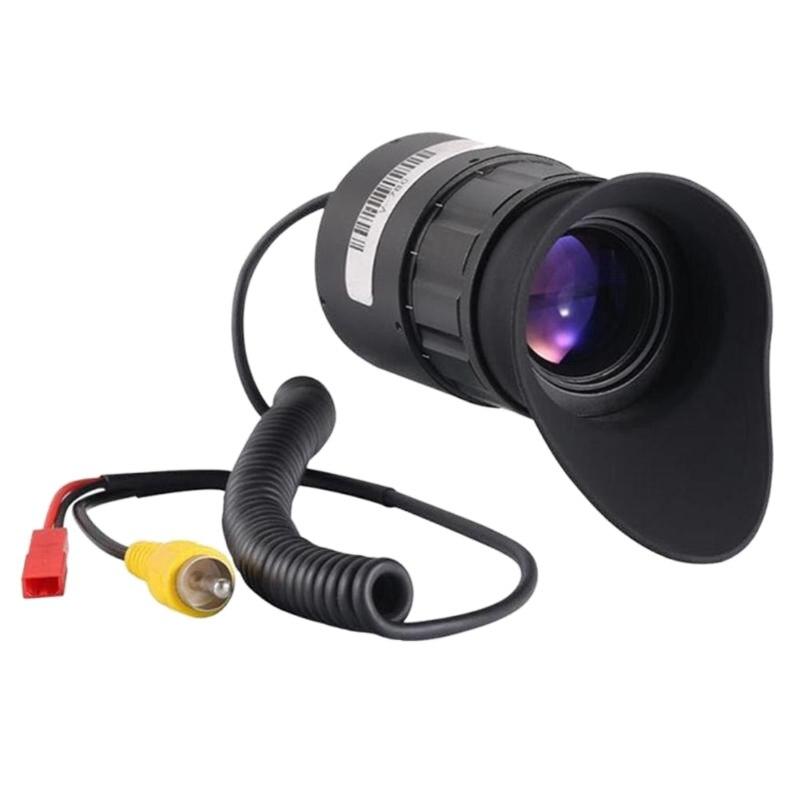 V780 0,5 pulgadas Oled 1024X768 lente de pantalla visión nocturna 21Mm cámara de gafas Medidor de vídeo y adaptador BNC ESCAM de 5M a 60M, potencia 12V CC, Cable integrado para cámara analógica CCTV DVR, Kit de sistema de cámara