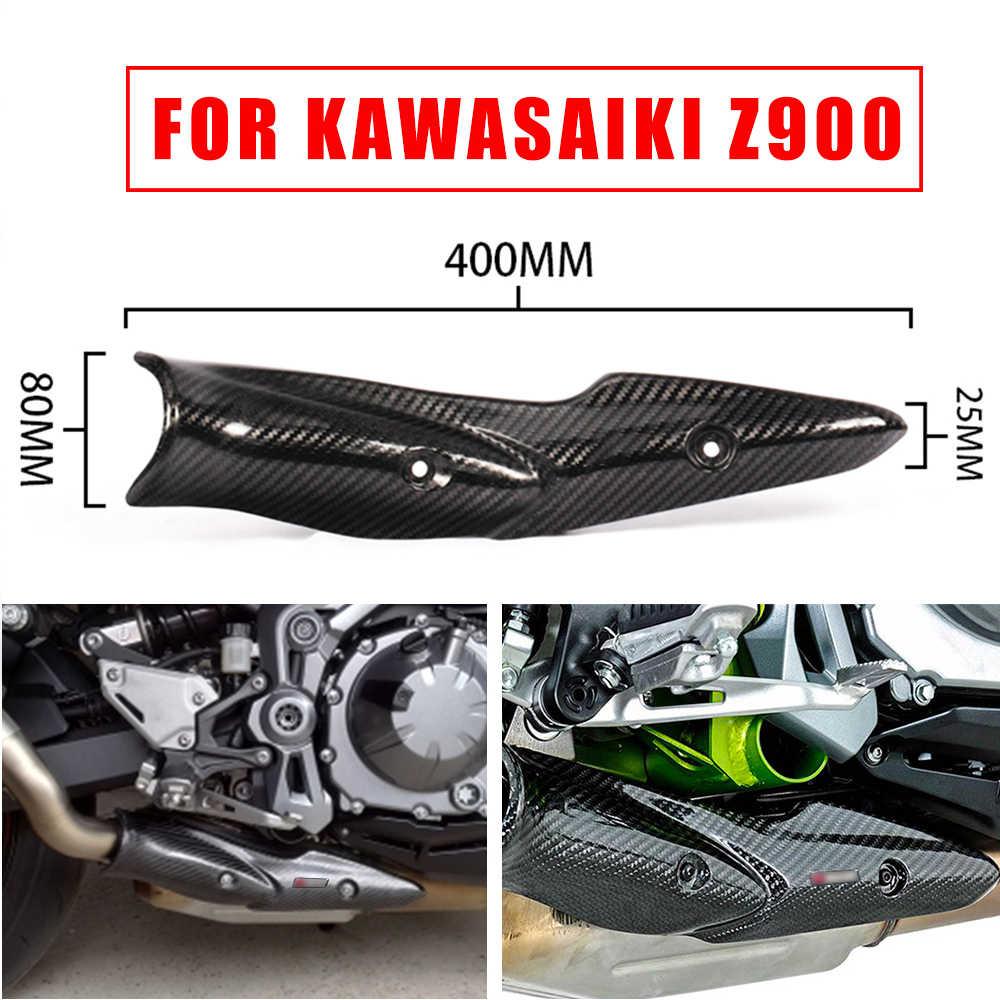 ユニバーサルオートバイの排気マフラーパイプカバー抗火傷炭素繊維 z900 bmw f800r ドゥカティモンスター 696