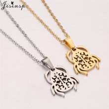 Jisensp Egyptian Scarab Necklace Beetle Pendant Stainless Steel Chain Necklaces for Women Insect Jewelry Accessories collane(China)