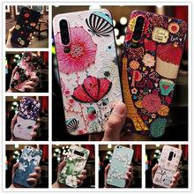 Für Huawei Honor 20 Pro Fall 3D Blume Relief Silikon Telefon Fällen Für Huawei P Smart Z Abdeckung Honor 8S 10i Fällen Nova 5T Funda