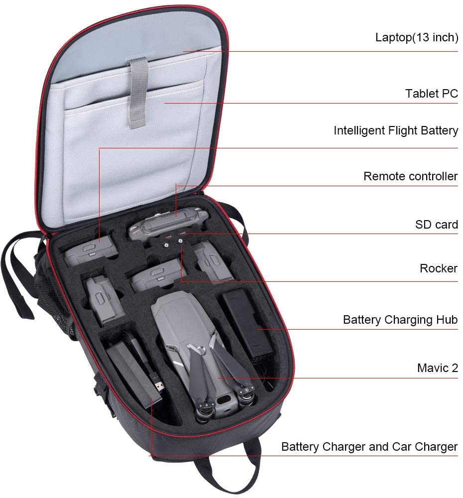 Image 2 - Smatree Backpack for DJI Mavic 2 Pro/Zoom for DJI OSMO Pocket/OSMO Action/Gopro 7/6/5/4/3/3+Camera/Video Bags   -