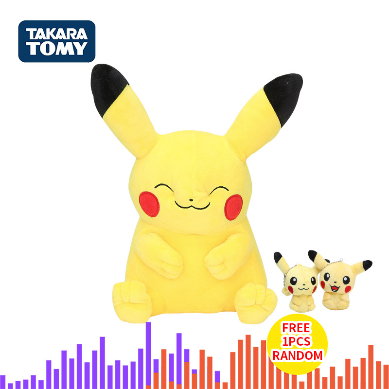 Takara Tomy Genuine Pokemon Pikachu Eevee Plush Toys Snorlax Charmander Bulbasaur Animal Plush Stuffed Toys For Children Gift