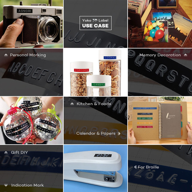 Dymo 1880 étiquettes détiquettes manuelles 9mm, (3/8 ) étiquettes détiquettes en pvc en plastique pour le bricolage, la presse-papier détiquettes manuelle