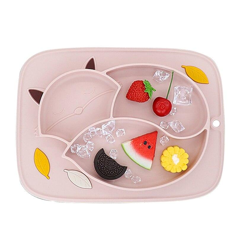 Alimentation plaques d'aspiration bébé nourriture plaque enfants Silicone plateau vajillas platon infantile plats pratos enfant manger bol prato infantil
