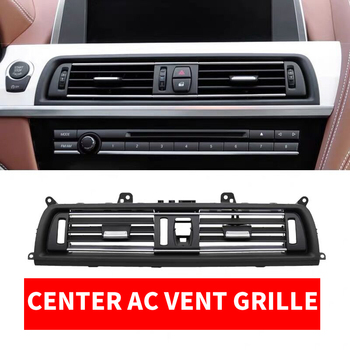 LHD Car Front Row Console Center Middle AC Air Conditioner Vent Grille Outlet Panel Chrome Plate For BMW 6-series F06 F12 630