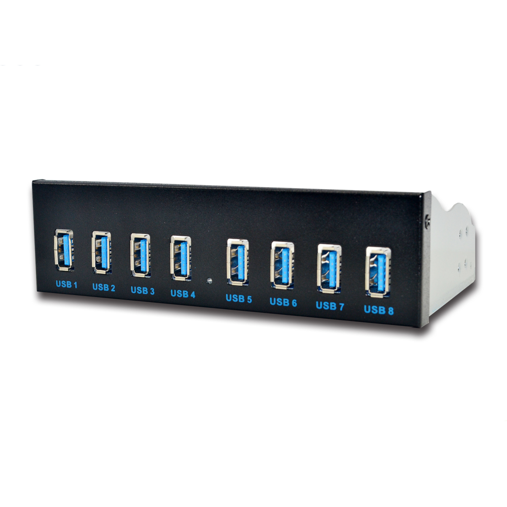 8 Port USB Hub USB3 5.25 USB 3.0 Front Panel Splitters USB 3.0 Hub For PC USB-HUB Multiple USB3.0 HUB Splitter Hubs For Computer