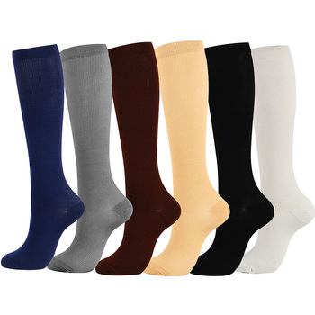 Unisex Men Women Compression Socks Anti-Fatigue Solid Color Nylon Soft Relief Foot Pain Calf Leg Support Stockings shenbao tablet ginseng maca warm tonic male health anti aging promoting energy waist and leg pain anti fatigue tone up the body