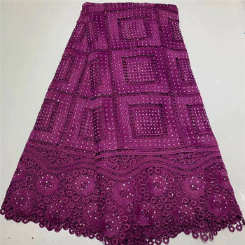 African Lace Fabric 2020 Embroidered Nigerian Laces Fabric Bridal High Quality French Water-soluble Lace Fabric For Wedding Part