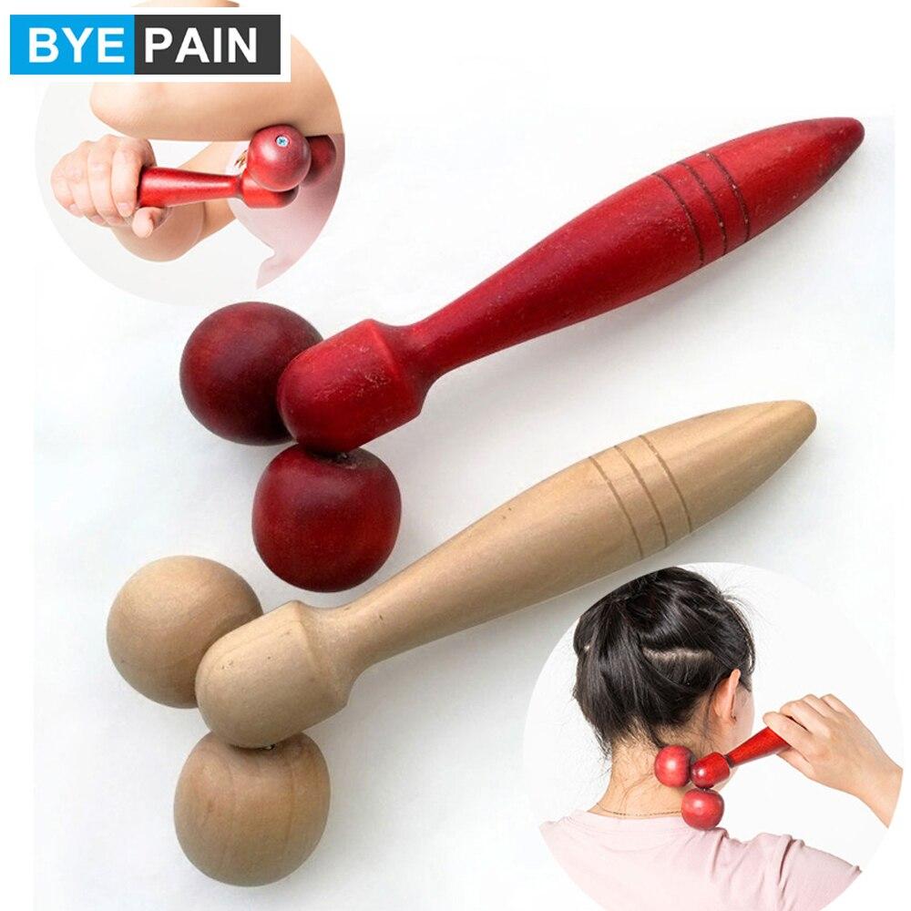 BYEPAIN деревянный валик для лица, массажер для ухода за здоровьем, основной цвет дерева, расслабляющий подбородок для шеи, массажный инструмен...