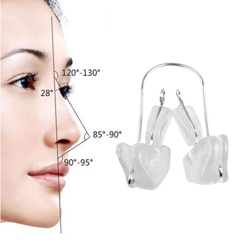 Nose Straightening Corrector Massager Face Shaping Tool Soft Silicone Nose Bridge Reshaper Clips Nose Up Reducer Clip