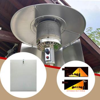 Grzejnik tarasowy reflektor tarcza zewnętrzne grzejniki do Patio propan i naturalny piecyk gazowy reflektor zewnętrzne grzejniki do propanu Nat tanie i dobre opinie CN (pochodzenie) Heater reflector Zaopatrzony Heat Focusing Reflector for Round Natural Gas Propane Patio Heaters Patio Heater Reflector Shield