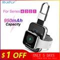 RAXFLY брелок Беспроводное зарядное устройство для Apple i Watch Series 2 3 4 950 мАч светодиодный блок питания док-станция наружное переносное Беспроводн...