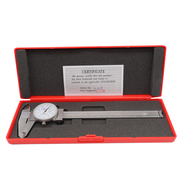 Dial Calipers 0-150mm 0.01mm 0-200 300 mm High Precision Industry Stainless Steel Vernier Caliper Shockproof Measuring Tool