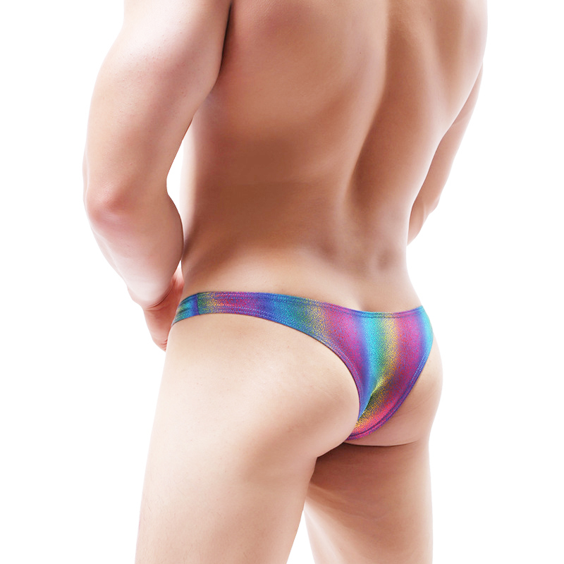 Mens Underwear Mini Men Briefs Gradient Colorful <font><b>bikini</b></font> <font><b>homme</b></font> <font><b>sexy</b></font> ropa interior hombre Briefs Rainbow men panties image
