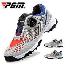 PGM, новинка, обувь для гольфа, для мальчиков и девочек, водонепроницаемые кроссовки, дышащая, вращающаяся шнуровка, противоскользящая обувь, двойная Лакированная обувь для тренировок