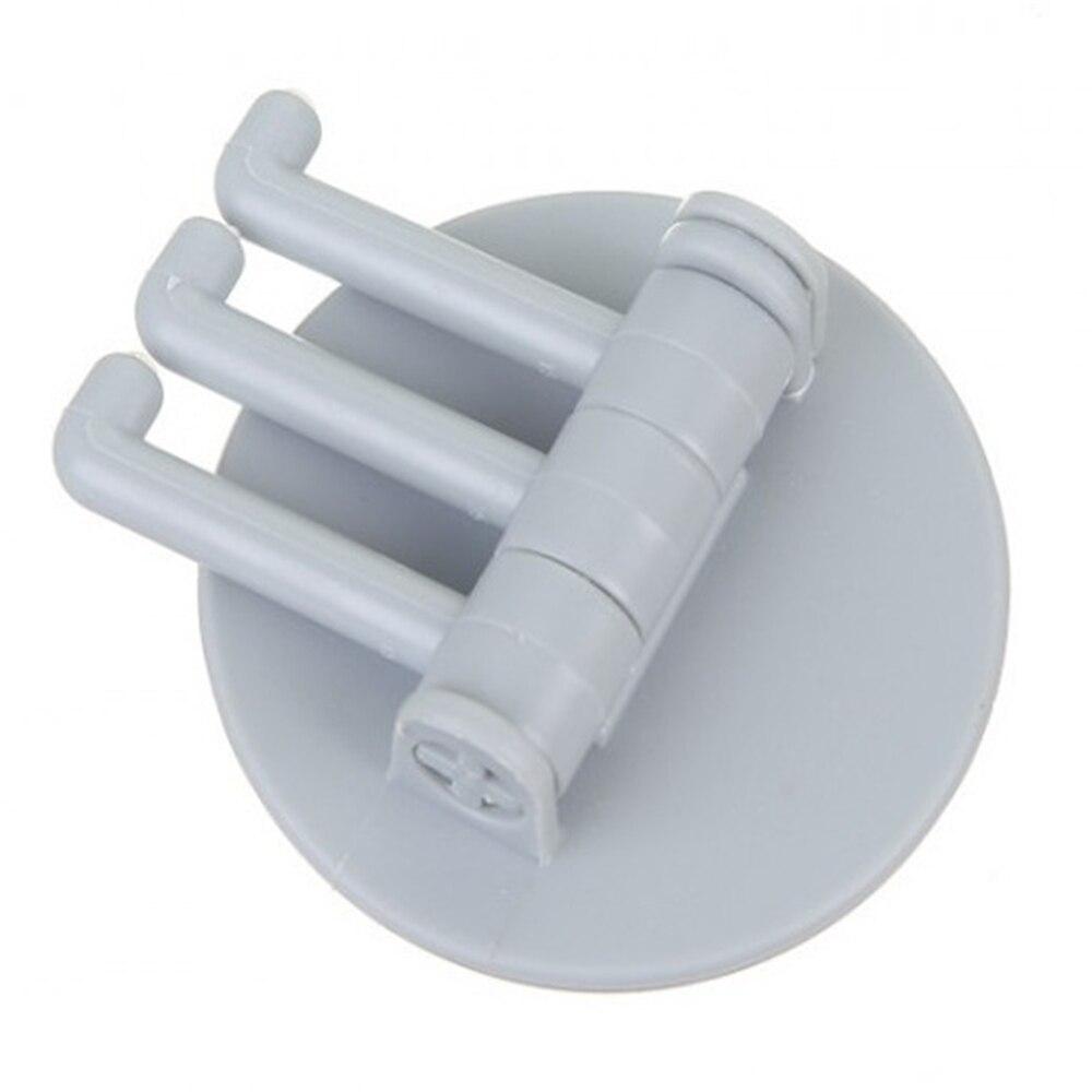 5 кг нагрузка бесшовный клейкий крючок вращающийся сильный подшипник палка крюк кухонная настенная вешалка Ванная комната Кухня крючки - Цвет: Небесно-голубой
