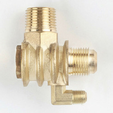 brand new 3-Port Check Valve Brass Male-Threaded Workshop Replacement Air Compressor цена