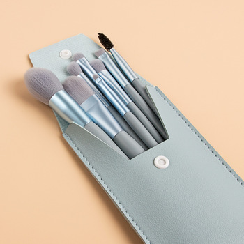 8 Pcs Mini Travel Portable Soft Makeup Brushes Set Eye Shadow Foundation Powder Eyelash Lip Concealer Blush Make Up Brush Set