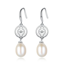 YUEYIN925 Sterling Silver Earrings for Women 10-11mm Nature Pearl Dangle Earrings Drop Earrings Korean Jewelry High Quality Hot