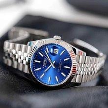 Мужские автоматические часы cadisen сапфировые роскошные механические