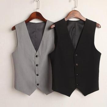 Summer V-Neck Vest Women Thin Loose Waistcoat Single Breasted Sleeveless Blazer Feminino Short Slim Veste Femme Tide XXXL 1
