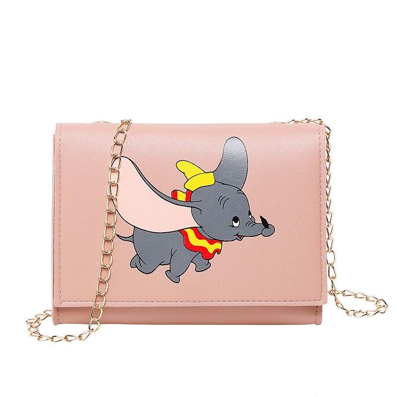 New Designed Dumbo Cartoon Crossbody Bag For Women Fashion PU Shoulder Bag Ladies Shopping Handbags Cute Mini Small Phone Purse