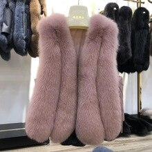Shortreal Bont Vos Vest Vrouwen Mode Mouwloze Mode Echt Bont Gilet Vrouwelijke 2020 Nieuwe Aankomst Dames Bont Vest Femme