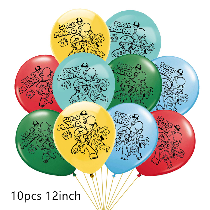 10 шт./лот Марио воздушные шары, красные, зеленые, синие, Супер Марио чайник игровой шар детских празднований дня рождения вечерние украшения ...