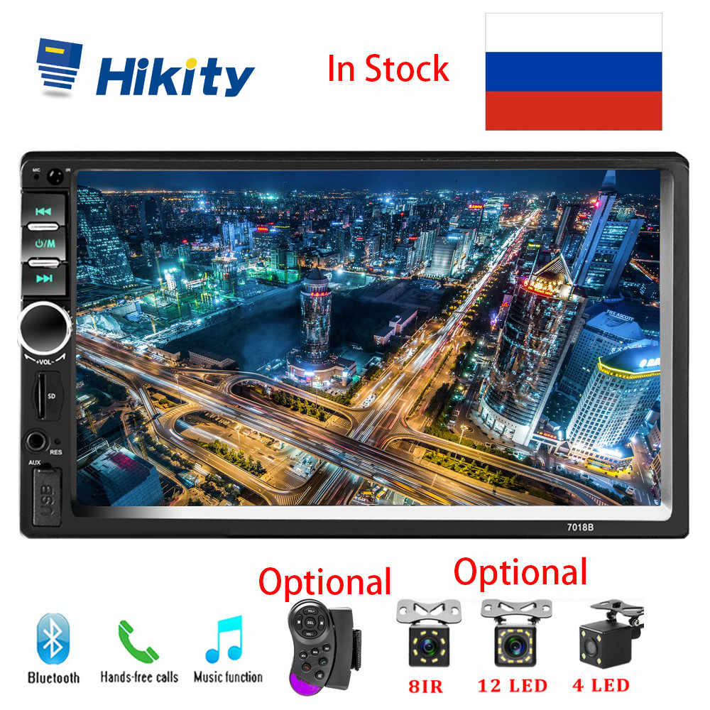 "Hikity 2 din Autoradio 7 ""Mirror link Car Stereo Bluetooth FM Audio lettore MP5 2din Autoradio 7018B Radio Car Support Camera"
