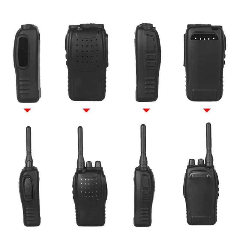 2Pcs In Silicone Protettiva Della Copertura di Caso Per Baofeng BF-888s 2-Way Radio Walkie Talkie DXAB