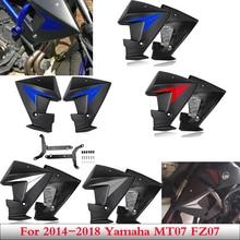 MT 07 FZ 07 akcesoria panele boczne spoilerów chłodnicy osłony osłony Fairing dla 2014 2018 Yamaha MT 07 FZ 07 MT07 FZ07