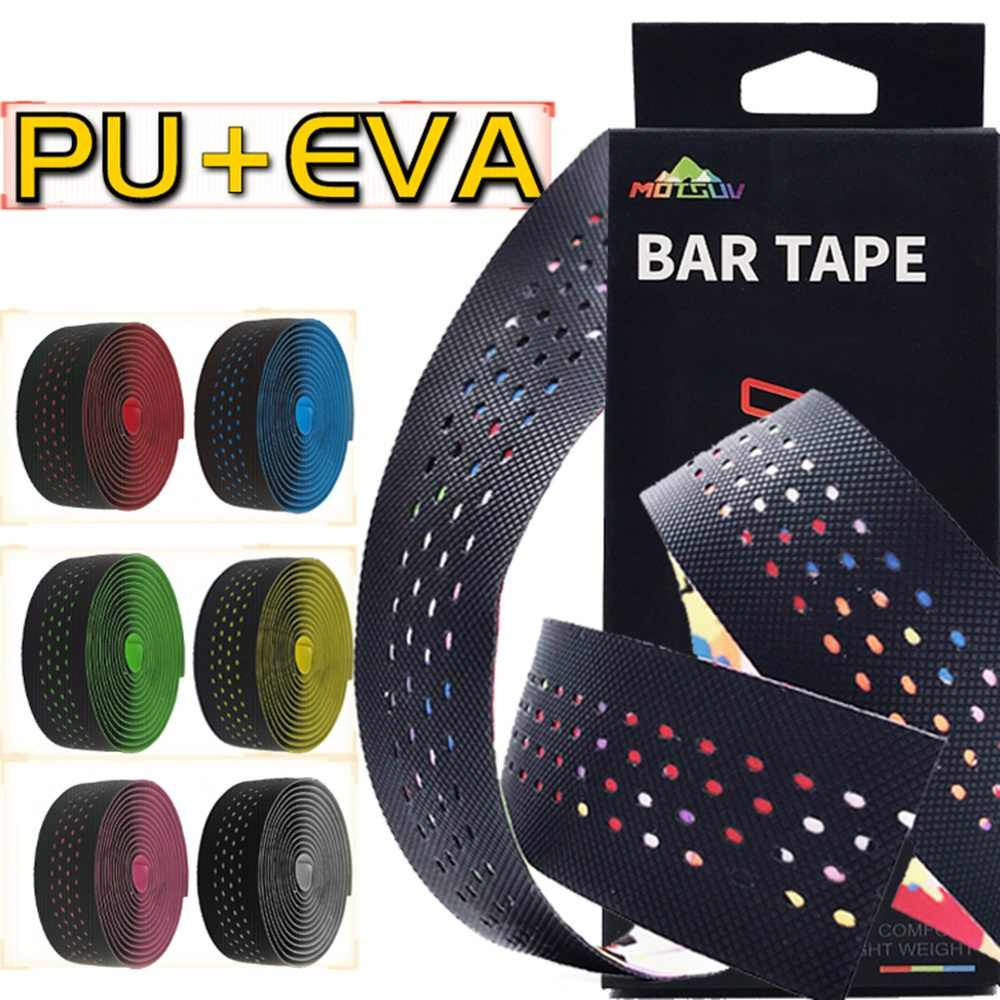 Bicycle Handlebar Tape Cycling Handle Belt Straps EVA PU Tape Anti-Vibration