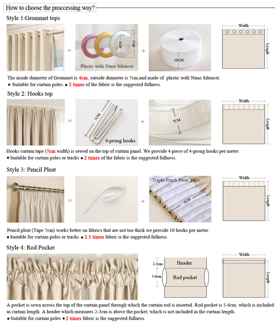 European and American Style Curtains 6