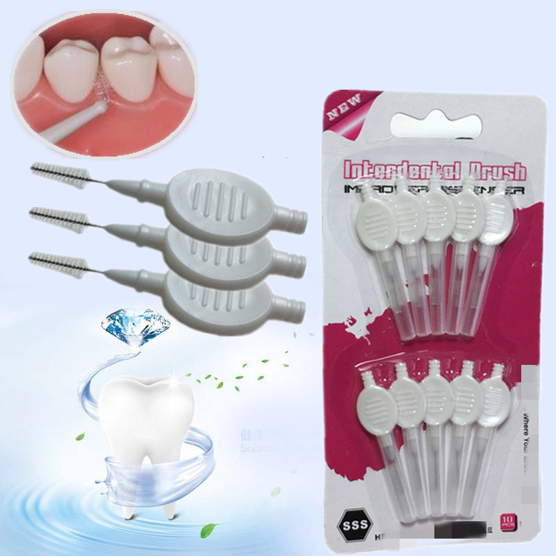 10 Pcs/ Set Interdental Brush Broom Head Dental Floss Teeth Cleaning Hygiene Oral Care Dental Tools