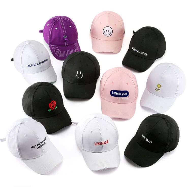 Korea Men Sport Letter Embroidery Baseball Caps Hot Casual Cotton Hip Hop Snapback Hat Women Casquette Gorras Curved Tucker Cap