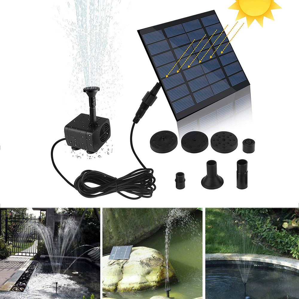 7V/1.2W Solar Fountain Watering kit Power Solar Pump Pool Pond Submersible Waterfall Floating Solar Water Fountain For Garden