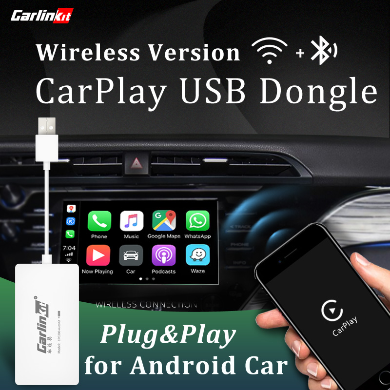 Carlinkit Wireless CarPlay Dongle For Android Navigation Player Mini USB CarPlay Stick With Android Auto Mirroring Link