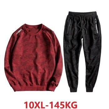 plus size autumn men Camouflage Sweatshirts hoodies big 8XL 9XL 10XL streetweat oversize 150KG 140KG casual sports Sweatshirts