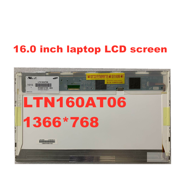 Free Shipping 16.0 Inch LCD Screen For ASUS N61 LTN160AT06 HSD160PHW1 1366 * 768 LVDS