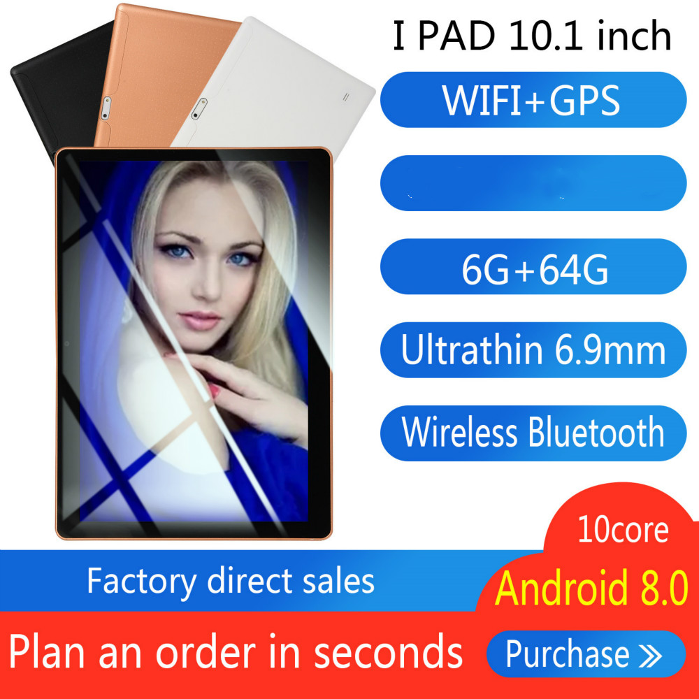 2020 10 Inch Tablet Pc Quad Core Original Powerful Android8.0 6GB RAM 64GB ROM IPS Dual SIM Phone Call Tab Phone Pc Tablets