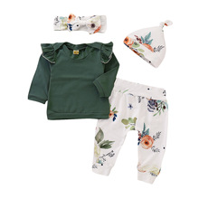 цена на Babyborn baby girl clothes carters Newborn infant clothing girls floral top pants Outfit Set roupa baby roupa infantil suit D20