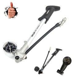 GIYO 300PSI надувной насос, велосипедный насос для надувания вилки, подходит для Schrader с psi/баром, складной шланг GS02D
