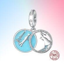 Стерлингового серебра 925 Шарм бисер Ретро дизайн романтическая