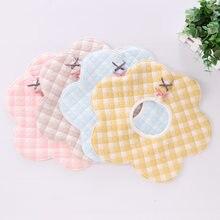 360 graus de algodão rotatable bandana babador babador alimentação do bebê blusa burp panos dos desenhos animados saliva toalha do bebê comer acessórios