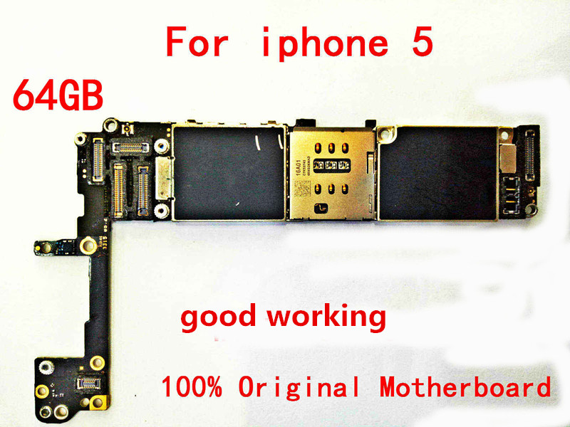 64GB For Original Motherboard for the Apple iPhone 5 64gb 100% working and unlocked Logicboard|Mobile Phone Motherboards| |  - title=